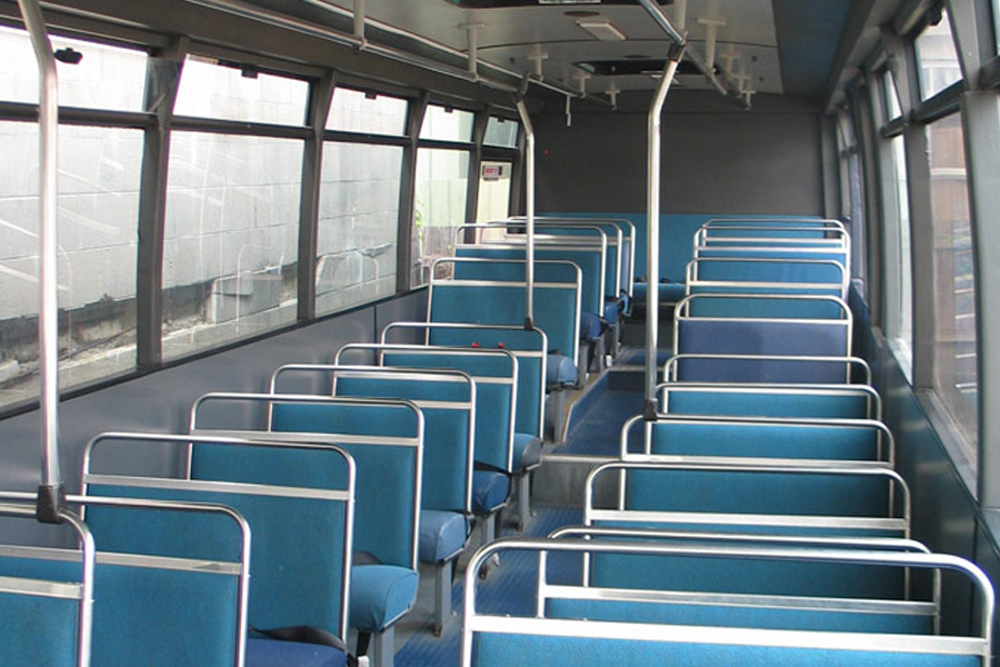 manly party bus hire inside