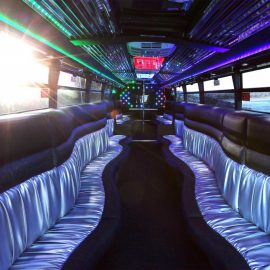 Limo Bus with state of the art LED lighting and sound system